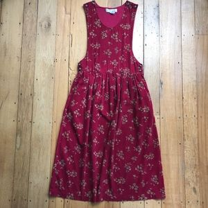 Karen Scott Vintage Corduroy Apron Dress